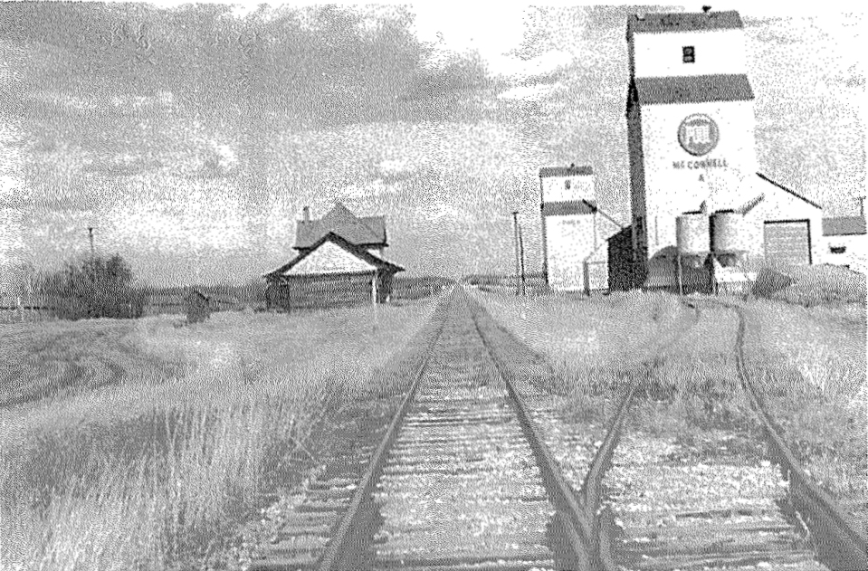 McConnell grain elevators, date and photographer unknown.