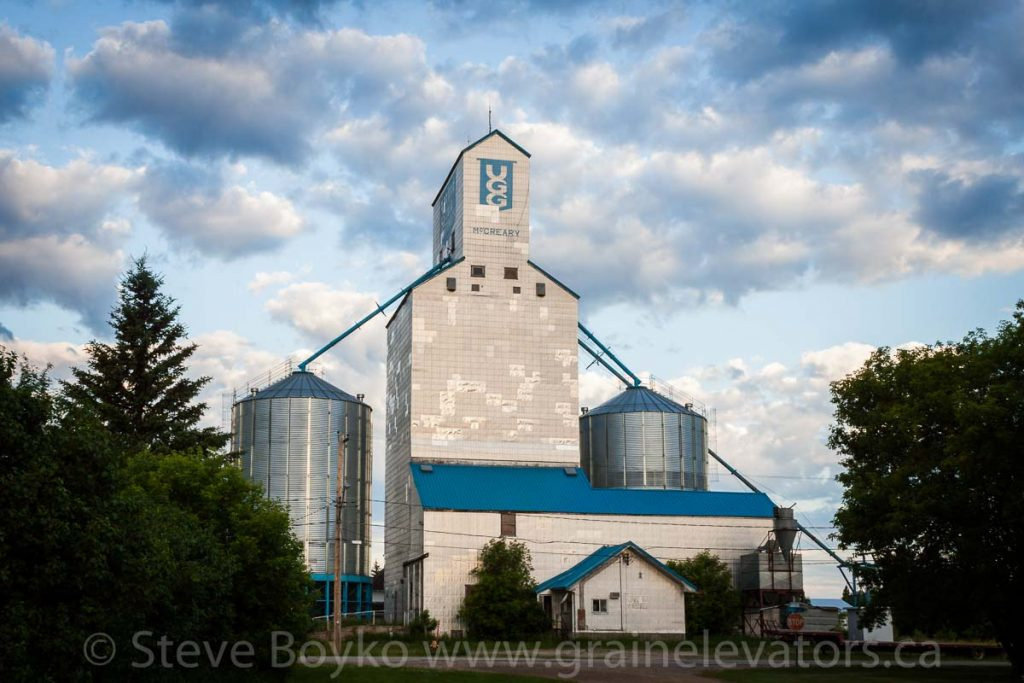 The McCreary, Manitoba grain elevator, June 2015. Contributed by Steve Boyko.