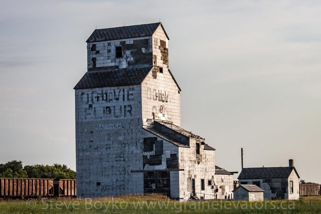 Ogilvie elevator in Napinka, MB, Aug 2014. Contributed by Steve Boyko.