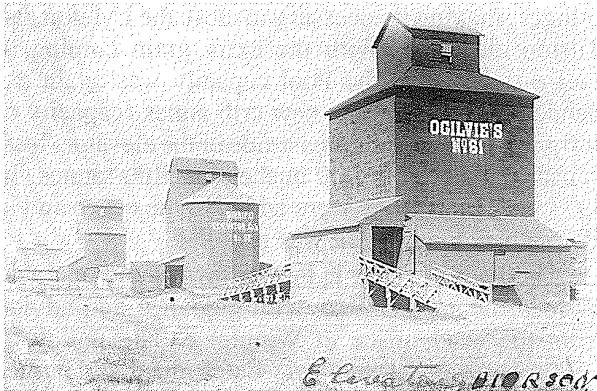 Pierson grain elevators circa 1921-1925.