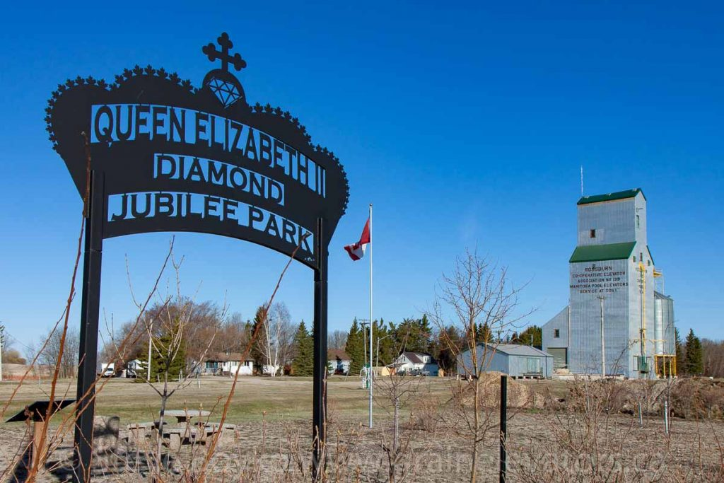 Queen Elizabeth Diamond Jubilee Park and elevator in Rossburn, MB, Apr 2016. Contributed by Steve Boyko.