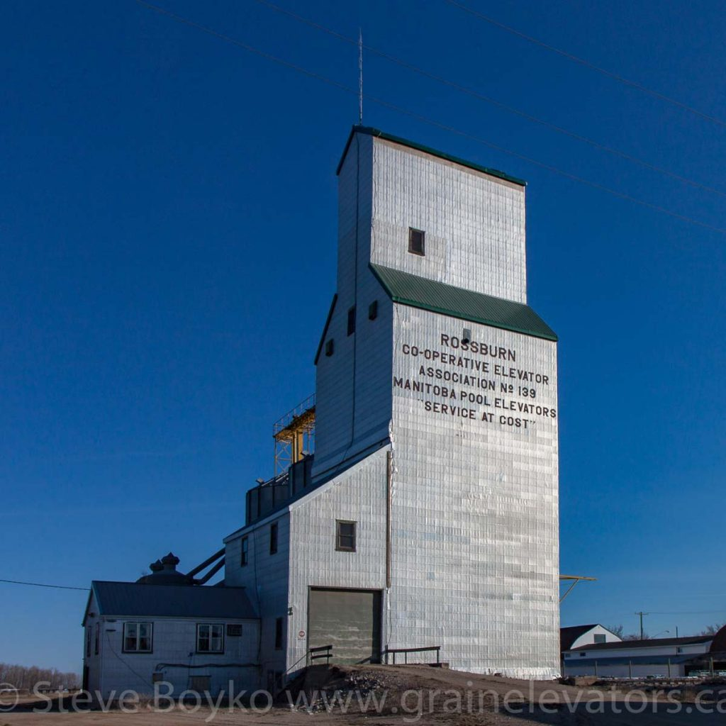 Grain elevator in Rossburn, MB, Apr 2016. Contributed by Steve Boyko.