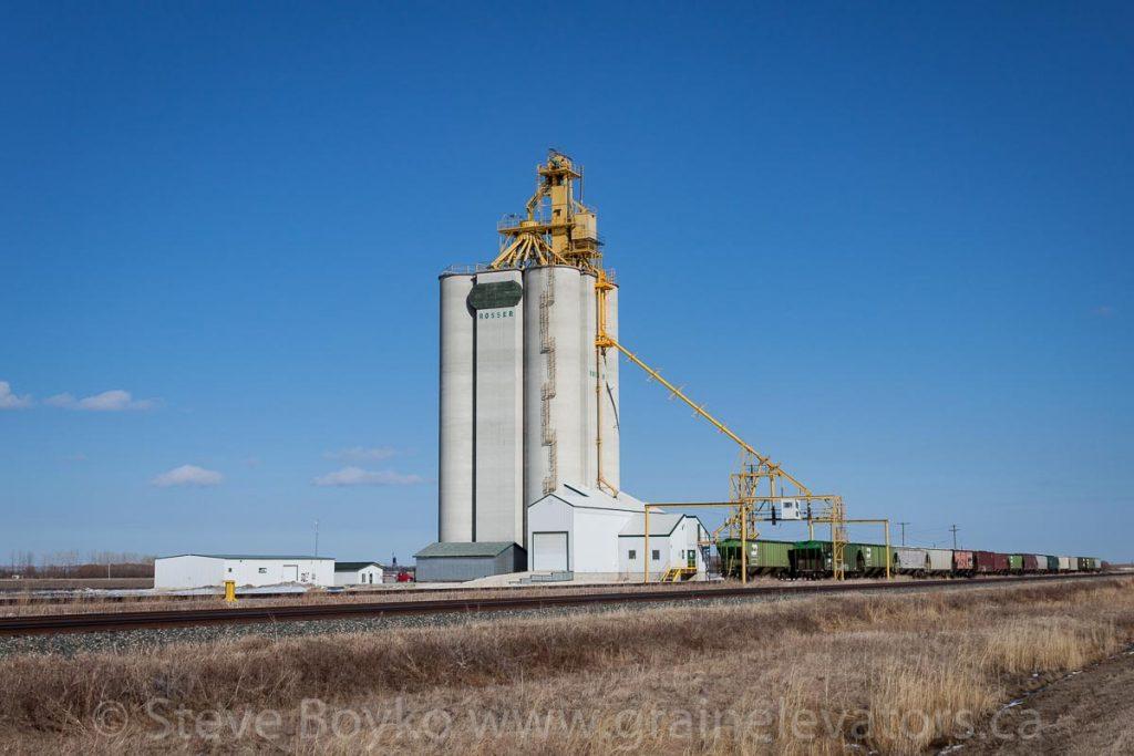 Rosser, MB grain elevator, April 2015. Contributed by Steve Boyko.
