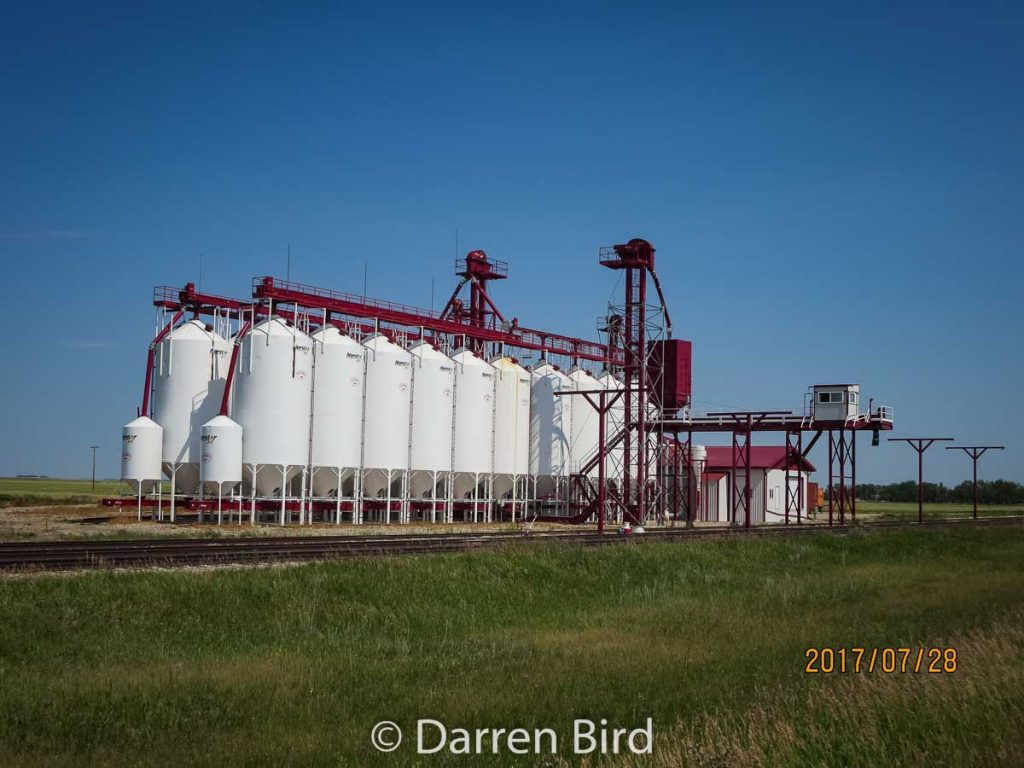 Victoria Pulse grain facility outside Sedley, SK, July 2017. Contributed by Darren Bird.