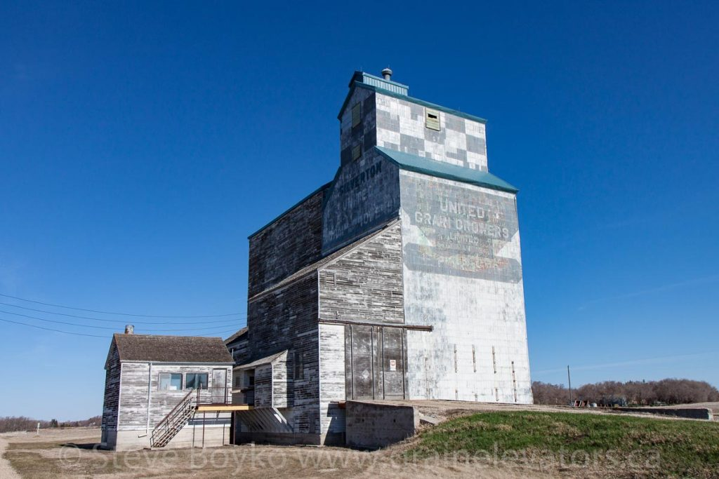 The Silverton, MB ex UGG grain elevator, Apr 2016. Contributed by Steve Boyko.
