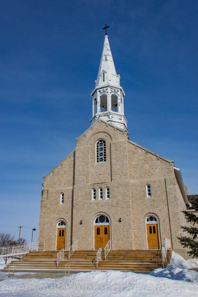 Church in St. Jean Baptiste, MB, Feb 2014. Contributed by Steve Boyko.