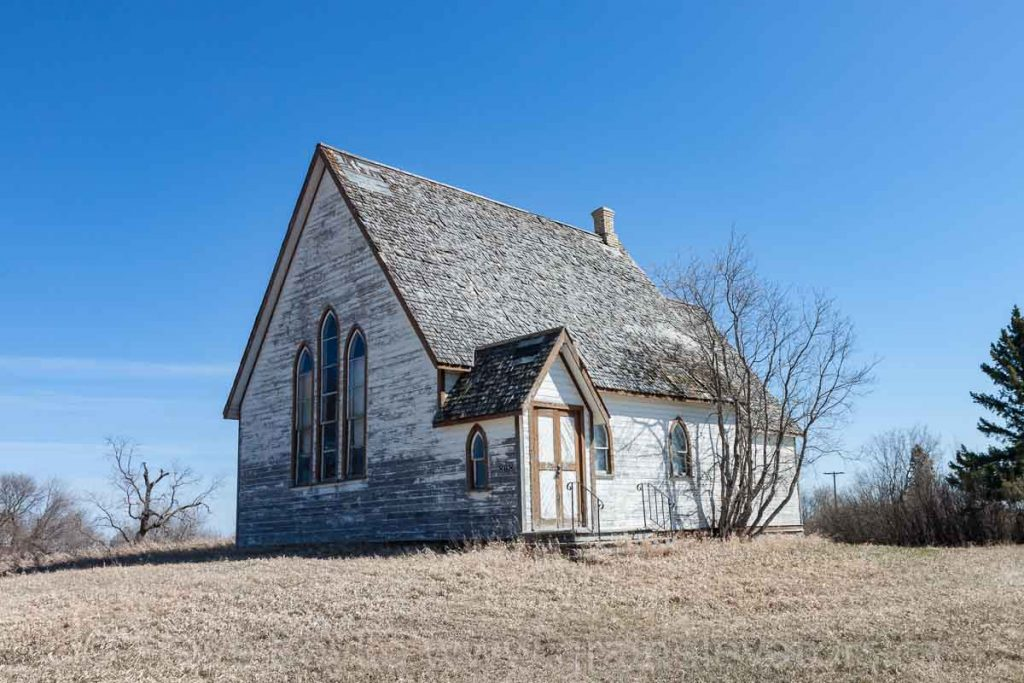 The St. Stephen Anglican Church in Solsgirth, MB, Apr 2016. Contributed by Steve Boyko.