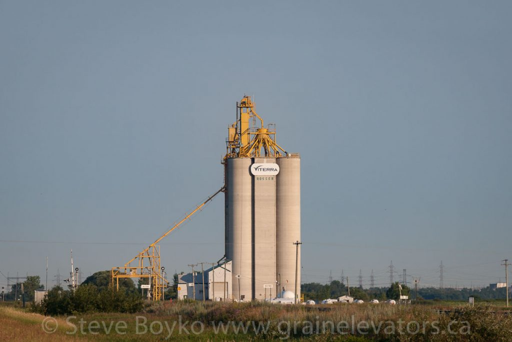 The Viterra grain elevator near Rosser, MB, July 2017. Contributed by Steve Boyko.