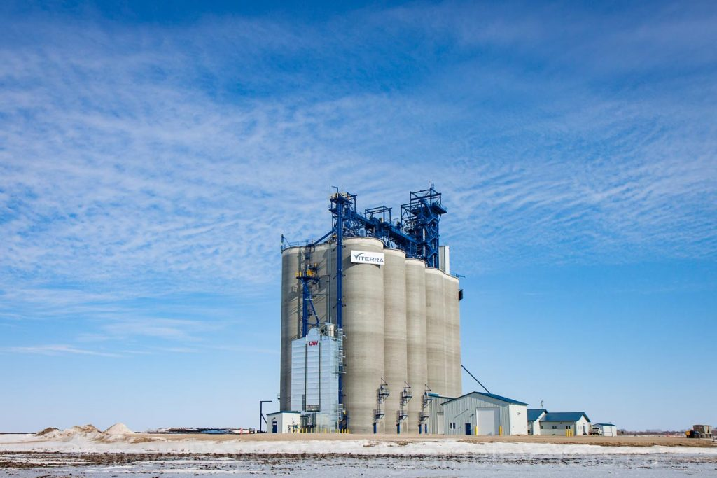 The Ste. Agathe, MB grain elevator, Feb 2017. Contributed by Steve Boyko.