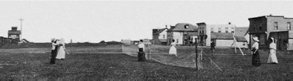 Tennis in Sinclair, MB, 1909.