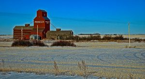 Heart Hills, SK grain elevator. Copyright by Gary Rich.