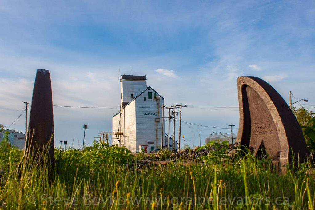 The Gladstone, MB grain elevator, May 2014. Contributed by Steve Boyko.