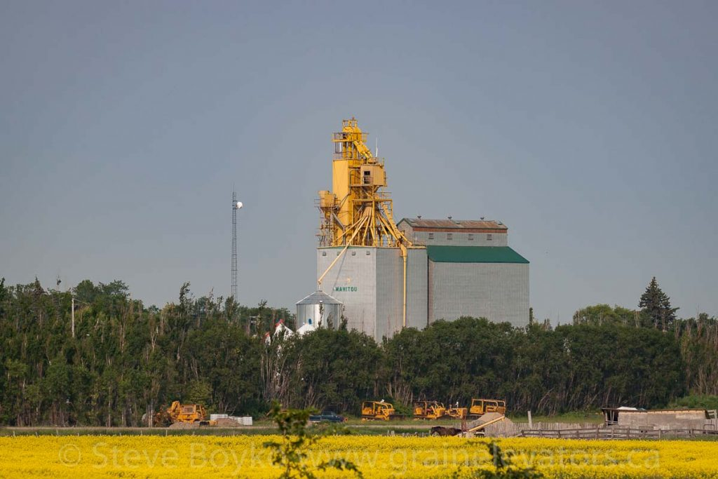 Manitou, MB grain elevator, July 2014. Contributed by Steve Boyko.