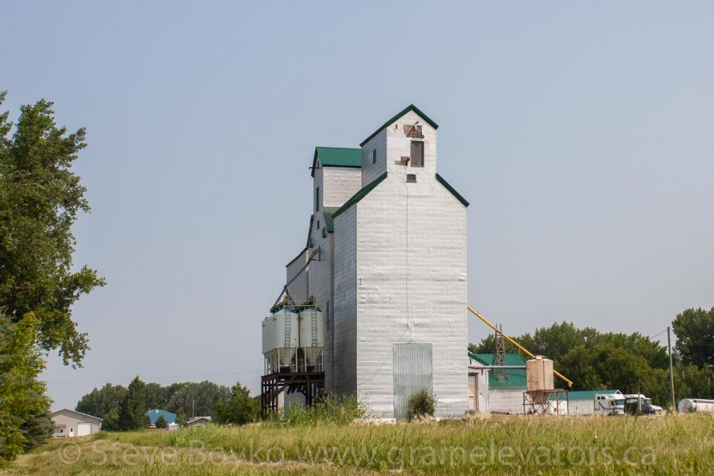 The Gretna, Manitoba grain elevator, July 2014. Contributed by Steve Boyko.