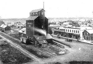 Ogilvie #8 grain elevator in Gretna, 1890.