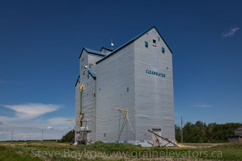 Clearwater, MB grain elevator, July 1 2018. Contributed by Steve Boyko.