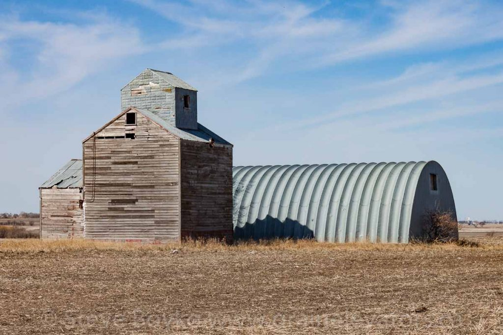 A small farm elevator near Holland, MB, May 2014. Contributed by Steve Boyko.