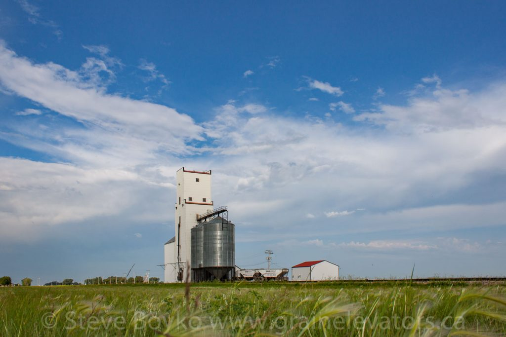 The grain elevator in Holland, MB, Aug 2014. Contributed by Steve Boyko.