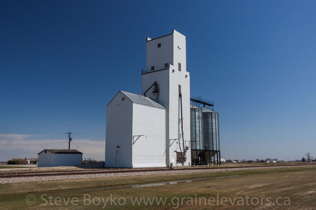 Holland, Manitoba's grain elevator, May 2014. Contributed by Steve Boyko.