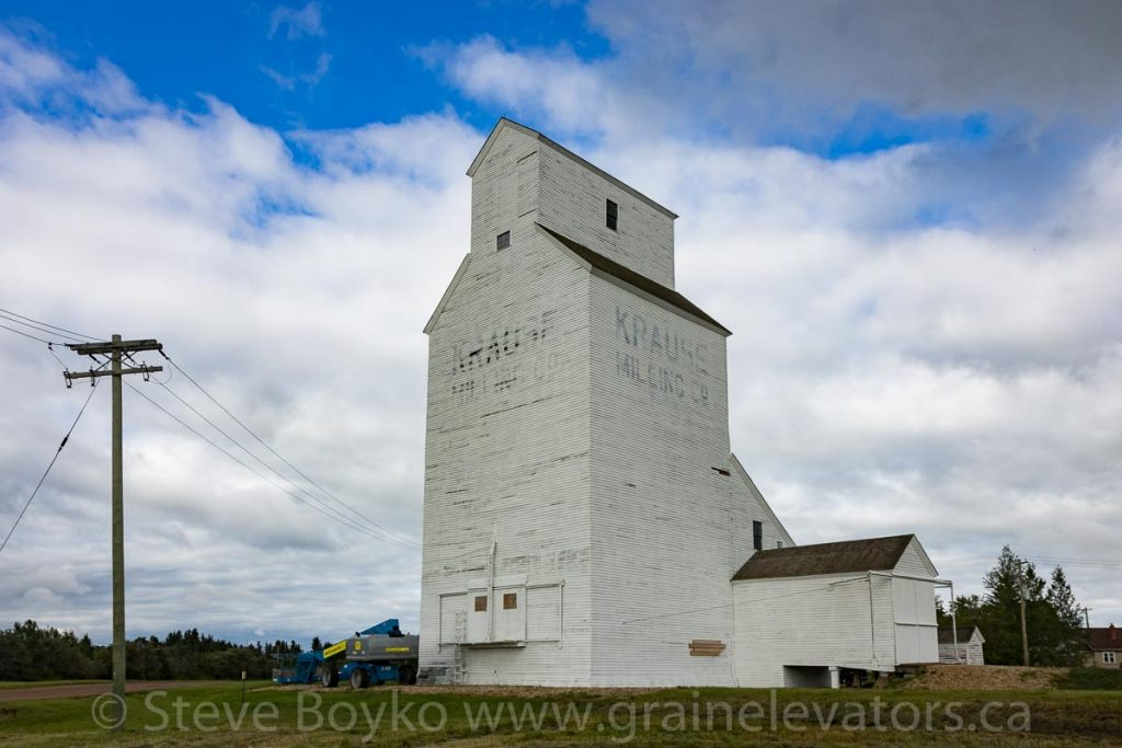 Krause Milling Company grain elevator in Radway, AB, Jul 2018. Contributed by Steve Boyko.