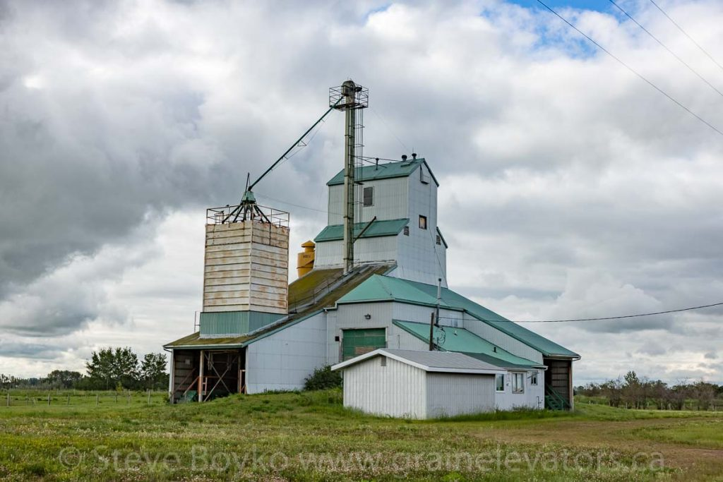 Seed cleaning plant in Radway, AB, Jul 2018. Contributed by Steve Boyko.