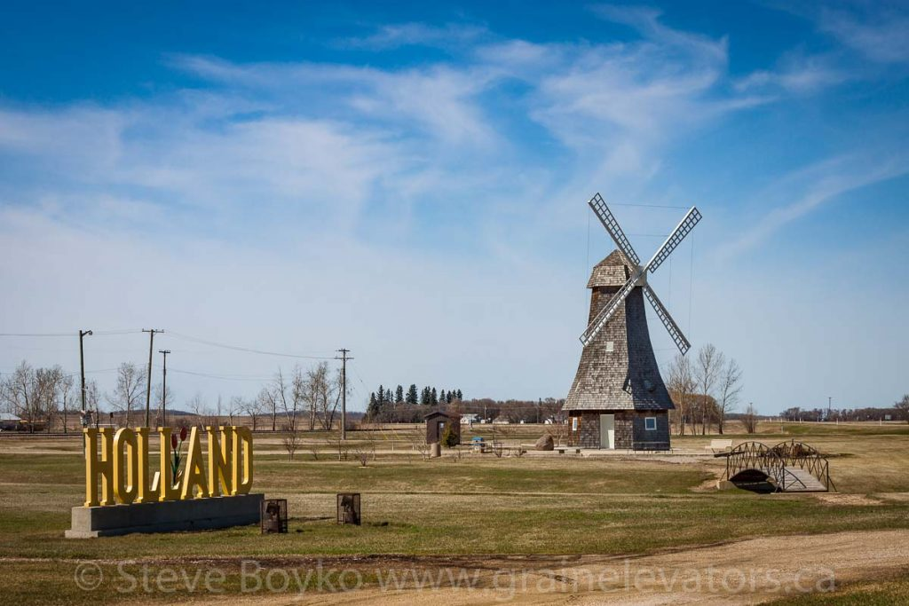 Windmill in Holland, MB, May 2014. Contributed by Steve Boyko.