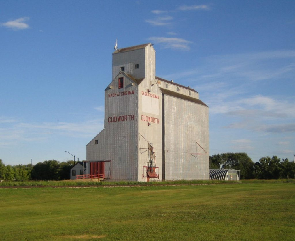 The Cudworth, SK grain elevator. Copyright by Peter Kroeger.