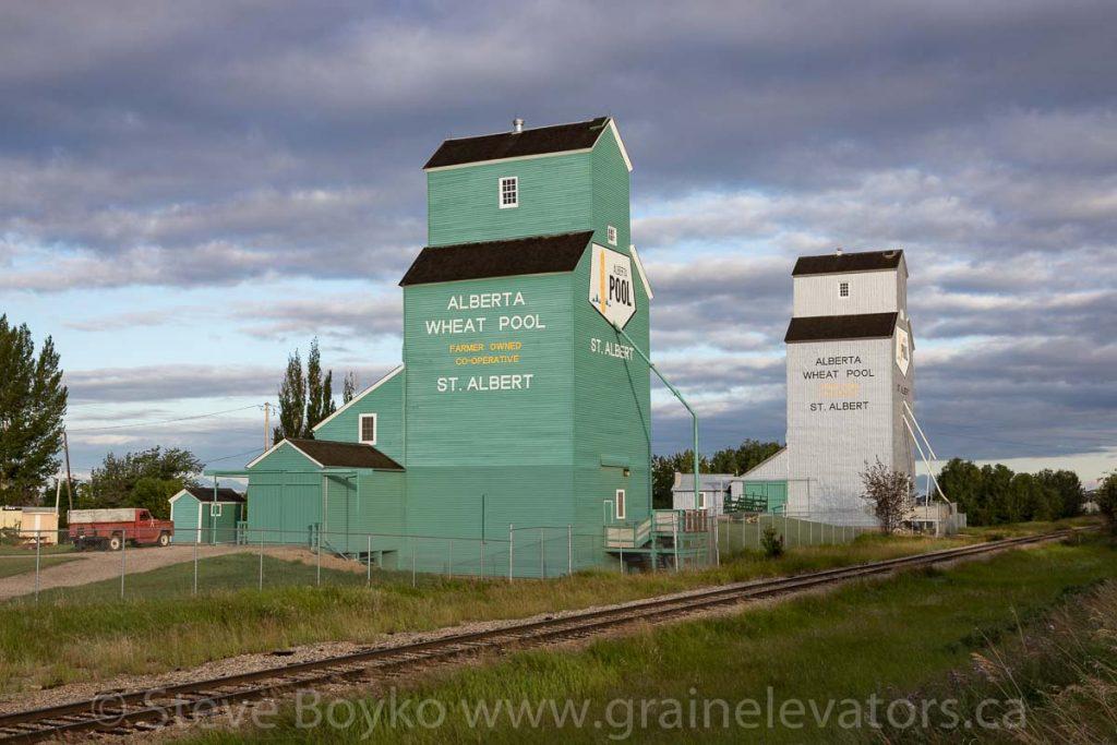 Grain elevators in St. Albert, AB, July 2018. Contributed by Steve Boyko.