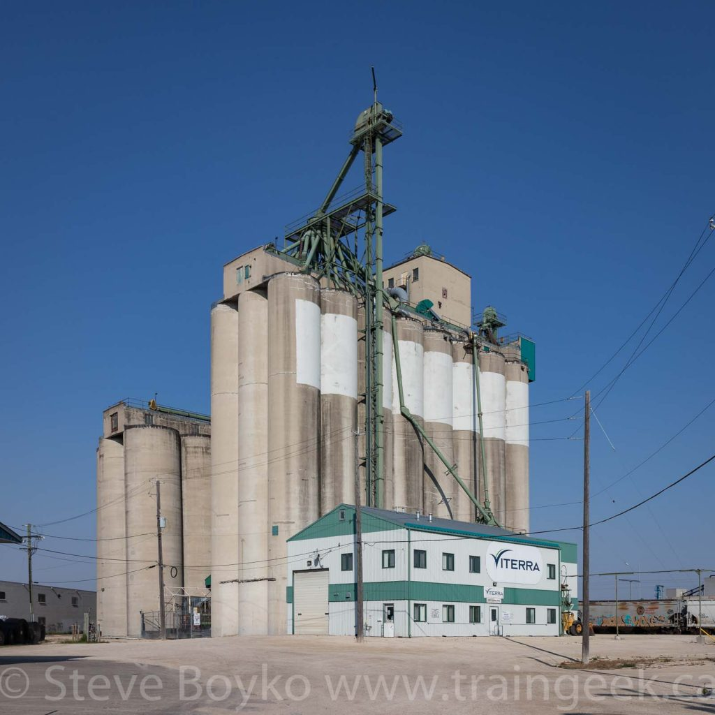 The concrete Viterra grain elevator in Winnipeg, Manitoba, Sept 2018. Contributed by Steve Boyko.