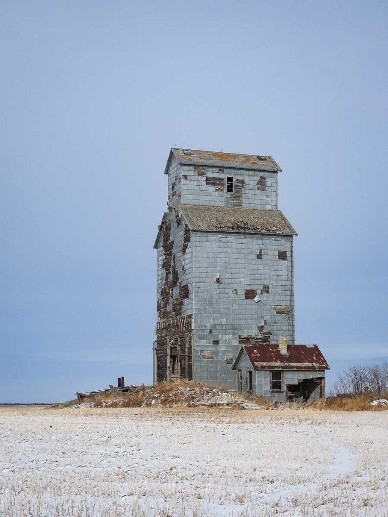 Grain elevator at Baring, SK, Nov 2018. Copyright by BW Bandy.