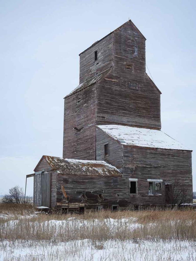 Ex UGG grain elevator in Lepine, SK, Nov 2018. Copyright by BW Bandy.