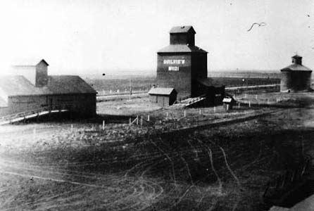 Niverville grain elevators, 1911.