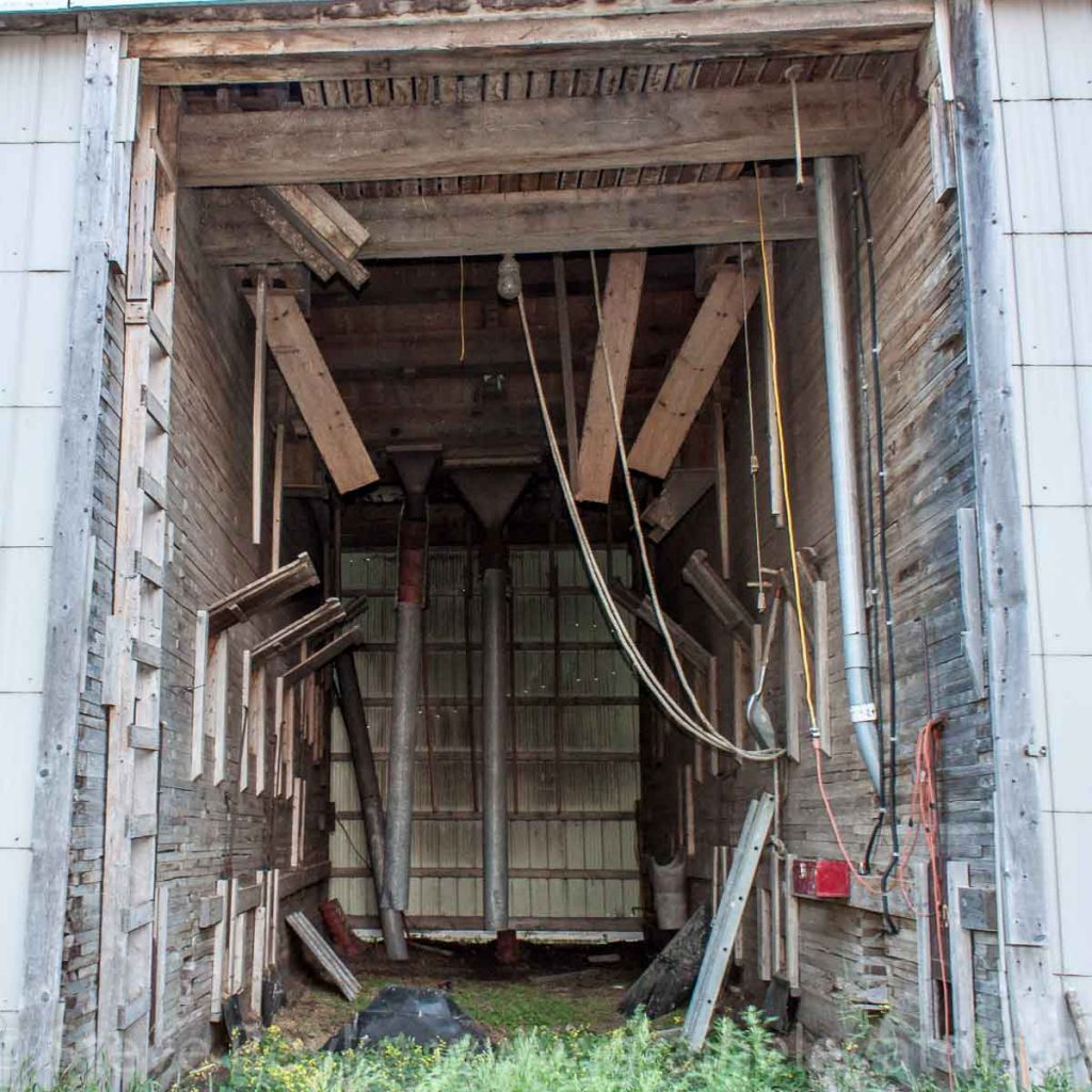 A view into the Kaleida grain elevator, July 2014. Contributed by Steve Boyko.