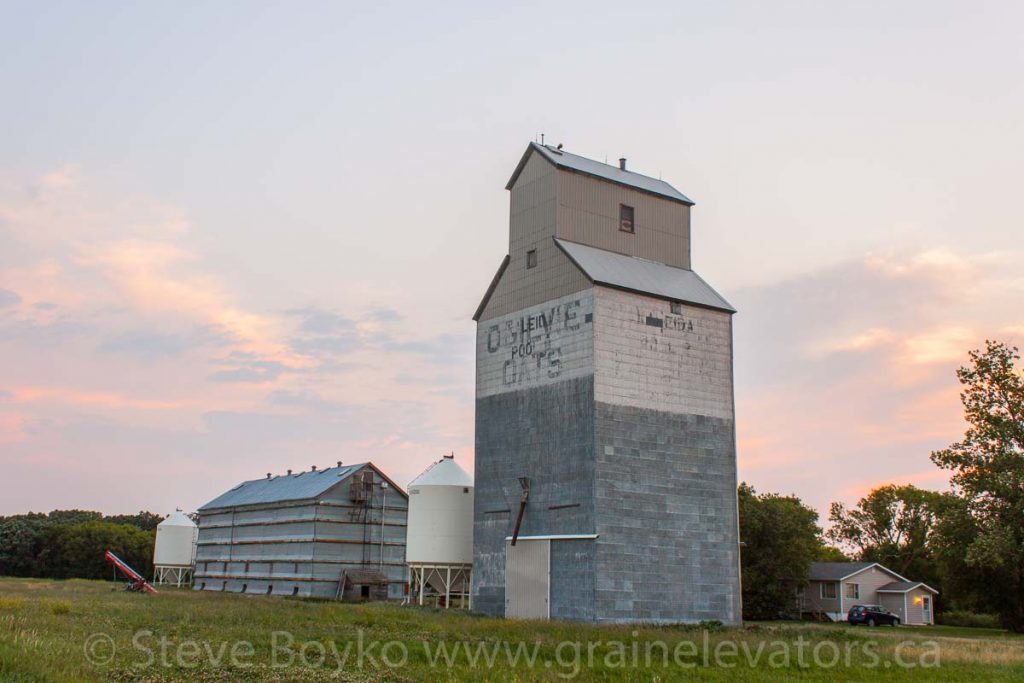 The Kaleida B grain elevator, July 2014. Contributed by Steve Boyko.