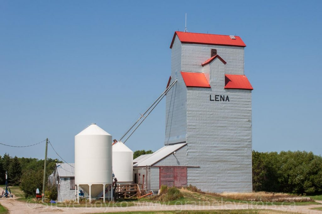 Lena's grain elevator, Aug 2014. Contributed by Steve Boyko.