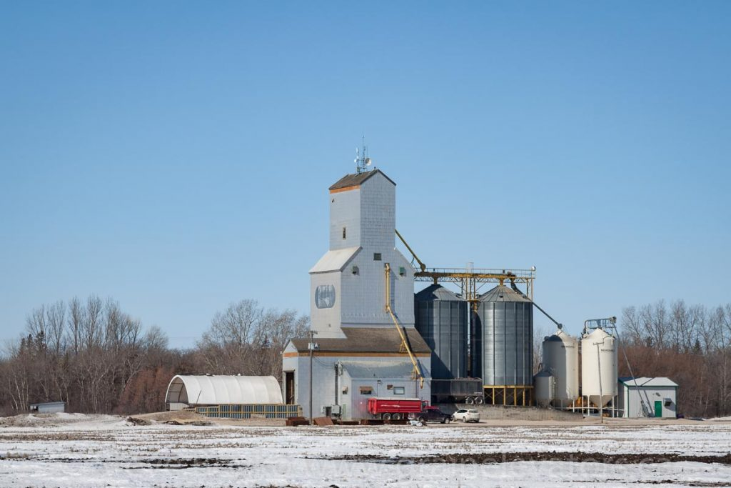 Grain elevator at Netley, MB, March 2017. Contributed by Steve Boyko.