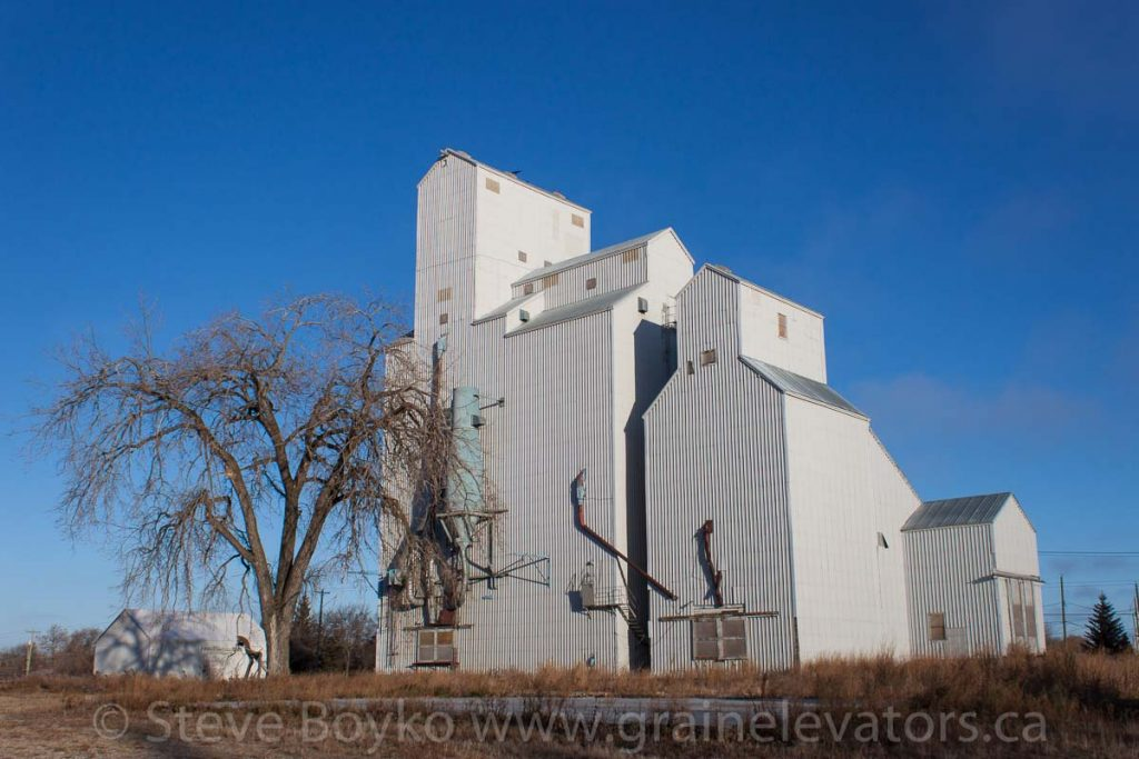 Ex UGG grain elevator at Shoal Lake, MB, Nov 2014. Contributed by Steve Boyko.