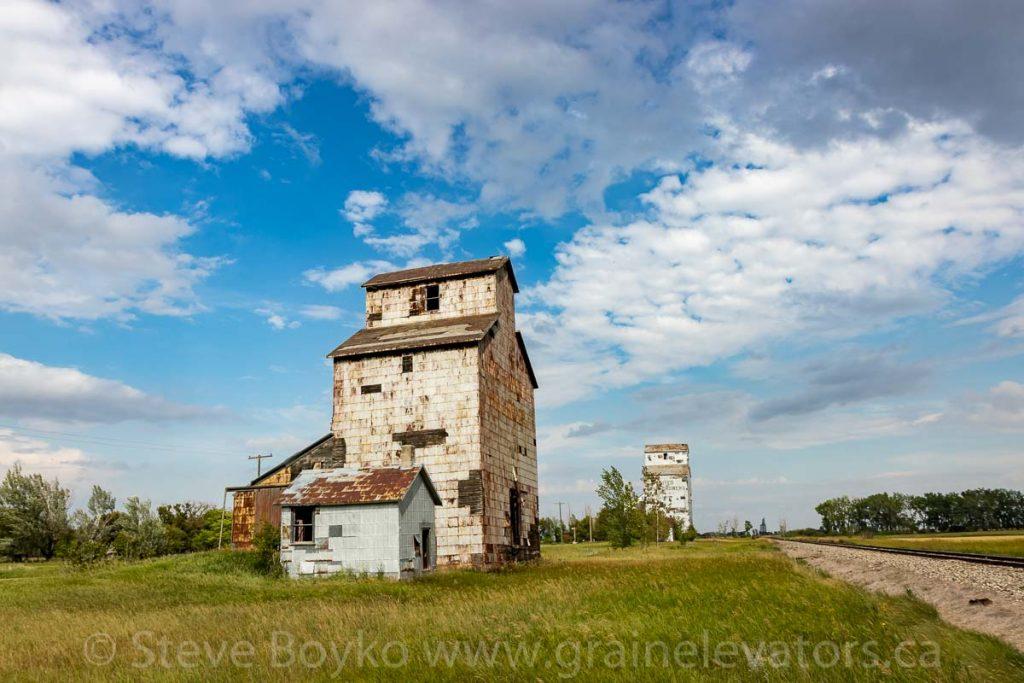 The grain elevators in Elva, Manitoba
