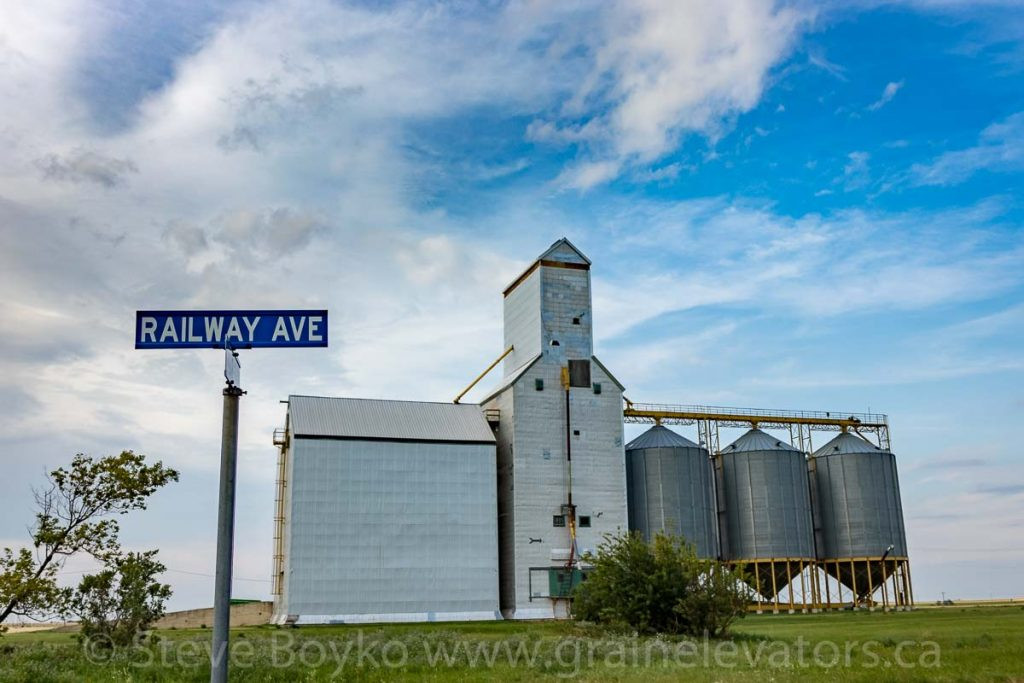 Railway Avenue in Goodlands, Manitoba