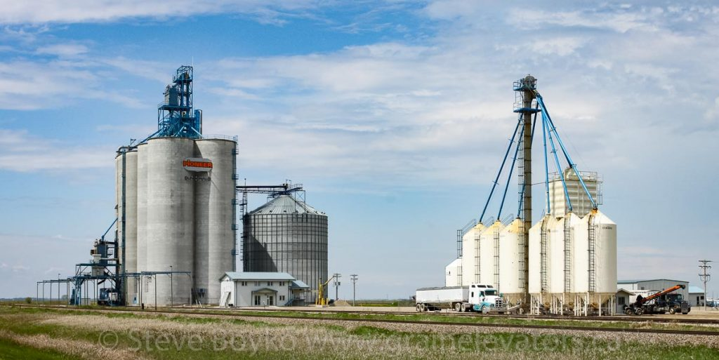 Grain elevator at Dundonald, May 2011. Contributed by Steve Boyko.