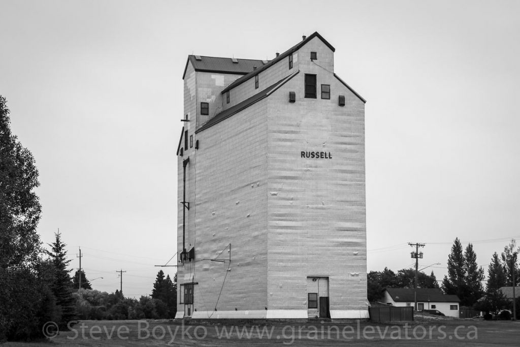 Russell, MB grain elevator, Aug 2019.