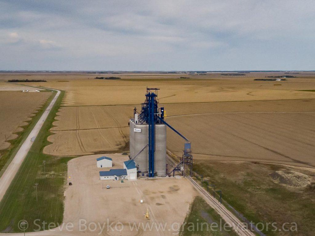Viterra grain elevator in Ste. Agathe, Manitoba, Sep 2019. Contributed by Steve Boyko.