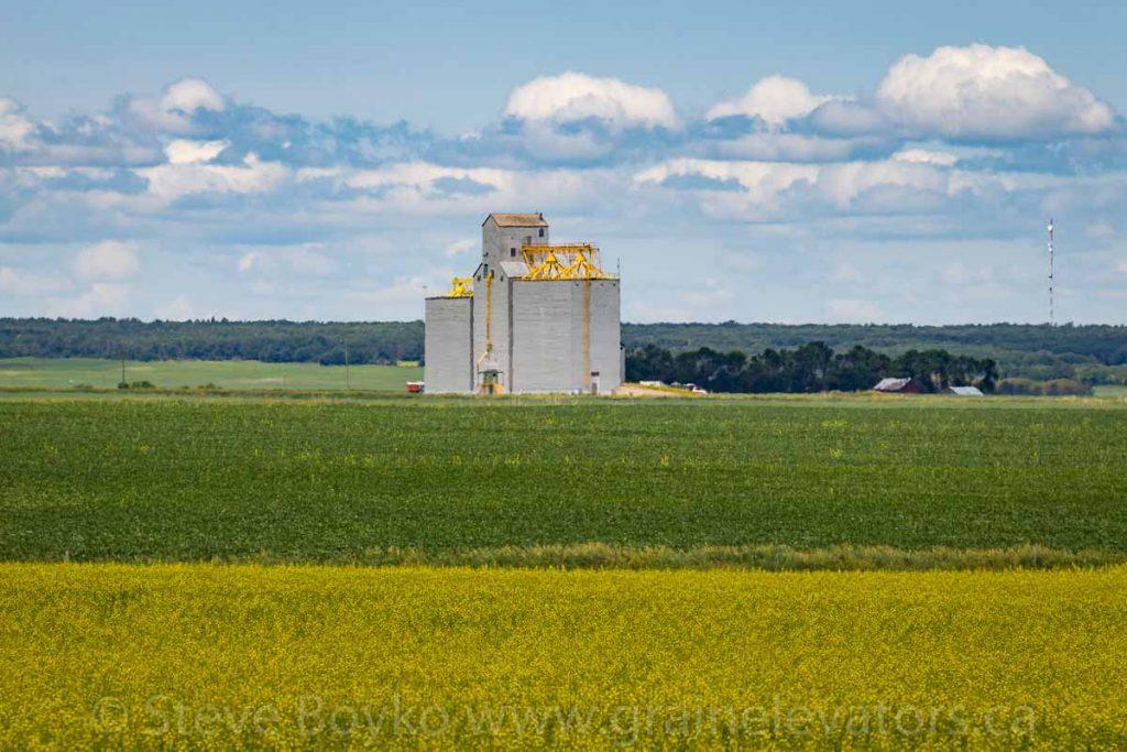 The former Pool grain elevator outside Nesbitt, Manitoba, June 2018. Contributed by Steve Boyko.