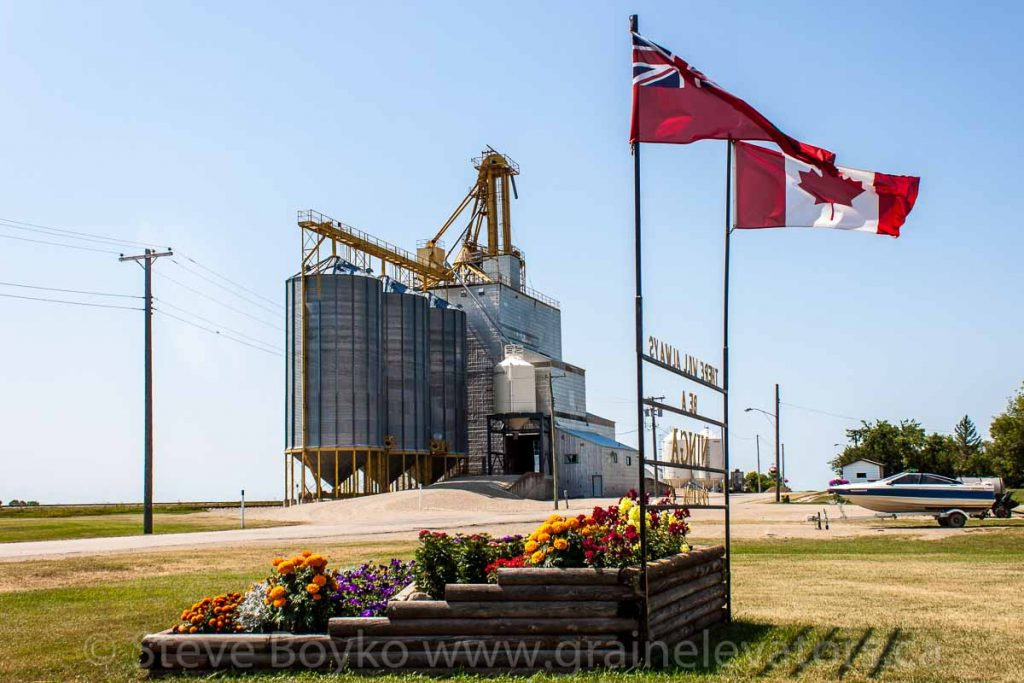 The grain elevator in Ninga, Manitoba, Aug 2014. Contributed by Steve Boyko.