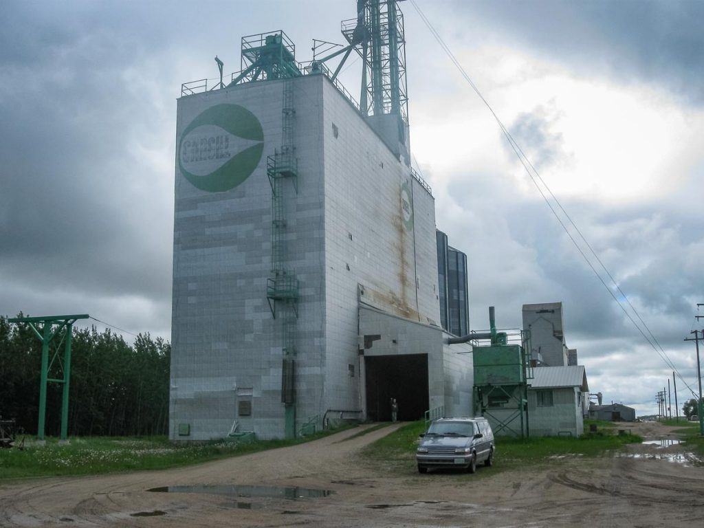 Cargill grain elevator in Canwood, SK, June 2014. Copyright by Duncan Mann.