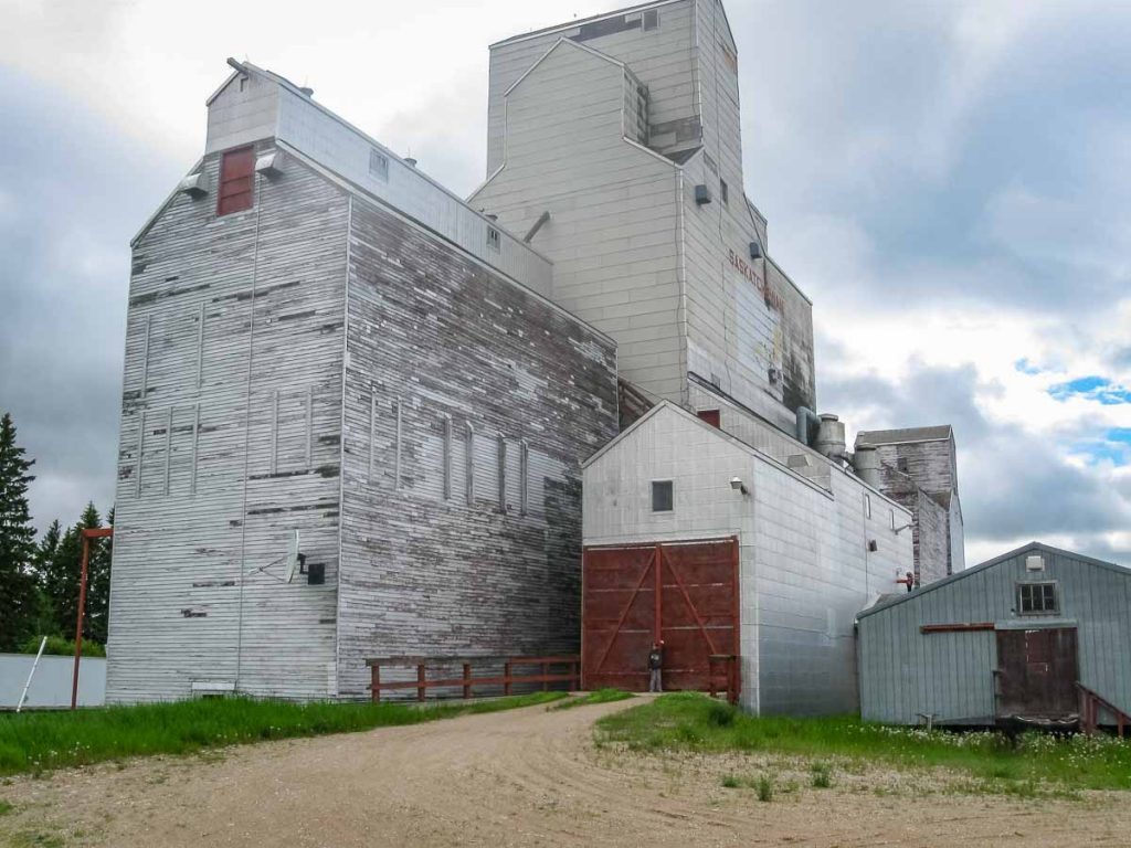 Ex Saskatchewan Wheat Pool grain elevator in Canwood, SK, June 2014. Copyright by Duncan Mann.