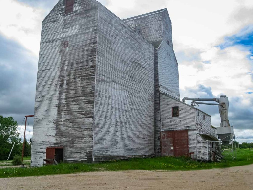 Ex Searle grain elevator in Canwood, SK, June 2014. Copyright by Duncan Mann.