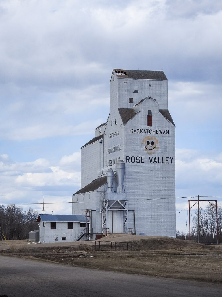 Rose Valley, SK grain elevator, Apr 2019. Copyright by BW Bandy.