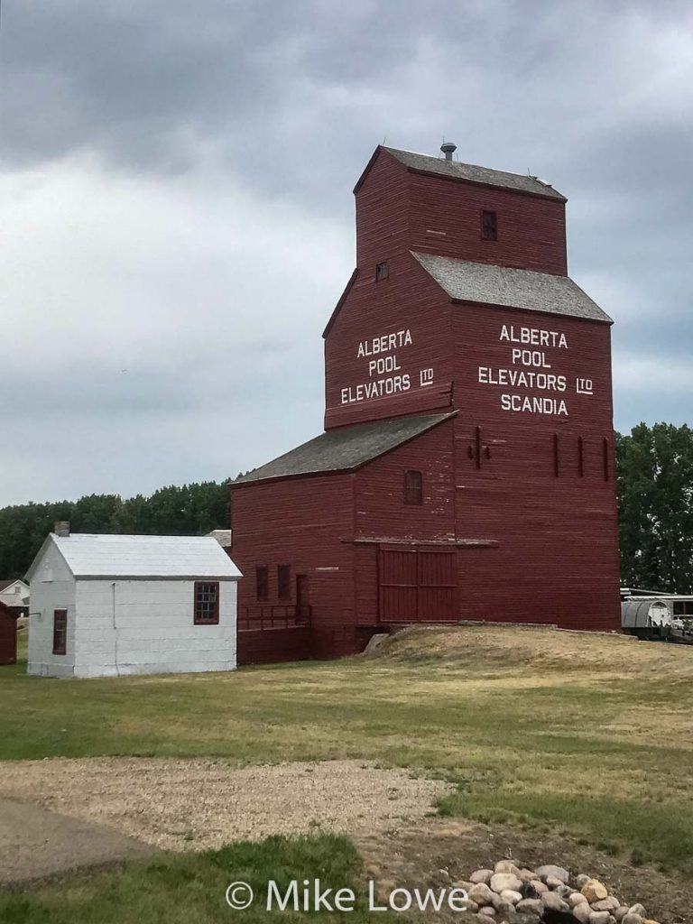 The Scandia, AB grain elevator, June 2019. Contributed by Mike Lowe.