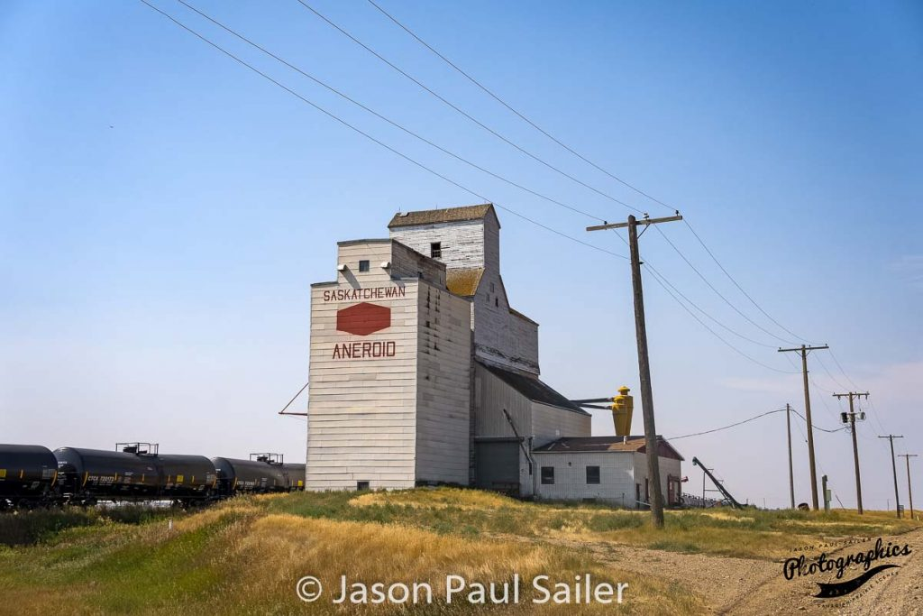 Aneroid, SK grian elevator, Sep 2017. Contributed by Jason Paul Sailer.